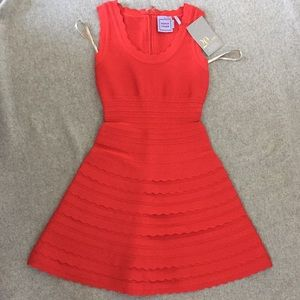HERVE LEGER red dress